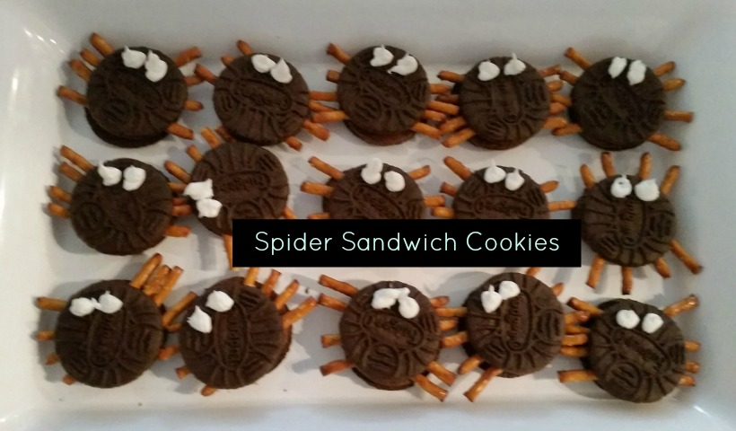 Cookie Sandwich Spiders