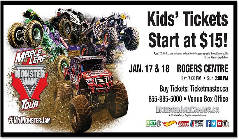 Monster Jam is Coming to Toronto!